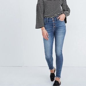 """Madewell 10"""" High-Rise Skinny Jeans Button-Front"""